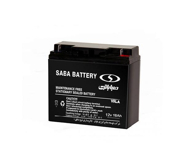 باتری سیلد اسید صبا باتری ۱۸ آمپر ۱۲V 18A VRLA Battery